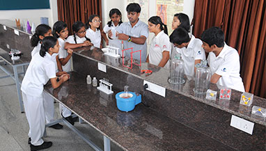 Science is not only to read; but to experiment. Chitrakoota's science labs provoke interest in students.